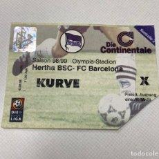 Coleccionismo deportivo: ENTRADA HERTHA BERLIN-FC BARCELONA 11-08-1998. Lote 206488092