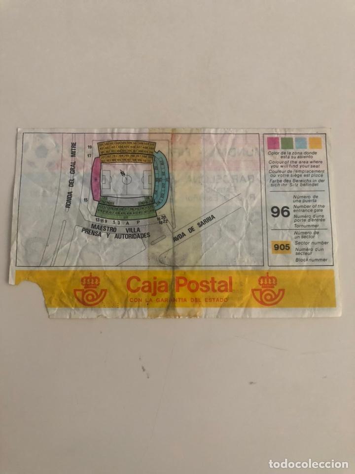Coleccionismo deportivo: Entrada Mundial España 82 Italia v Brasil 1982 Sarria Barcelona World Cup Ticket - Foto 2 - 206807821