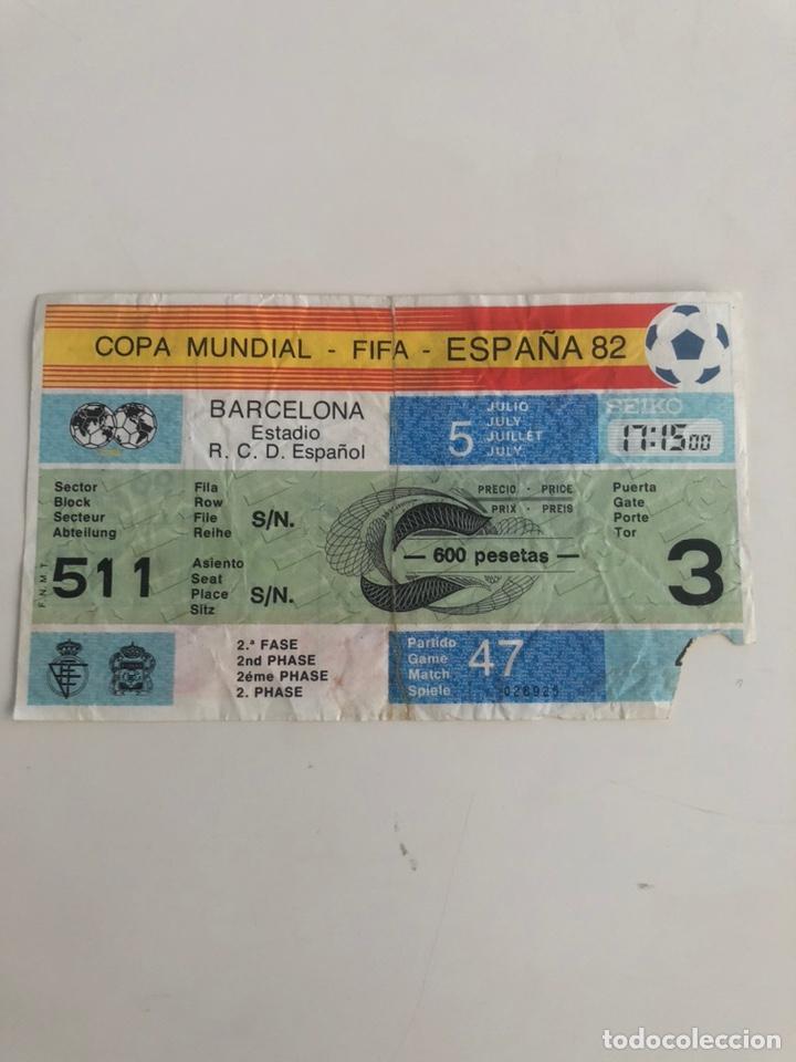 ENTRADA MUNDIAL ESPAÑA 82 ITALIA V BRASIL 1982 SARRIA BARCELONA WORLD CUP TICKET (Coleccionismo Deportivo - Documentos de Deportes - Entradas de Fútbol)