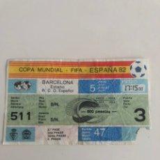 Coleccionismo deportivo: ENTRADA MUNDIAL ESPAÑA 82 ITALIA V BRASIL 1982 SARRIA BARCELONA WORLD CUP TICKET. Lote 206807821