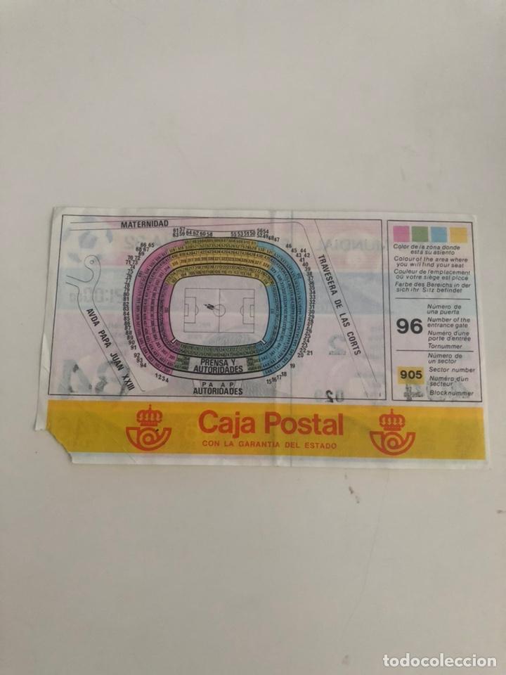 Coleccionismo deportivo: Entrada Mundial España 82 Rusia v Polonia Camp Nou Barcelona URSS v Polska World Cup Ticket - Foto 2 - 206808980