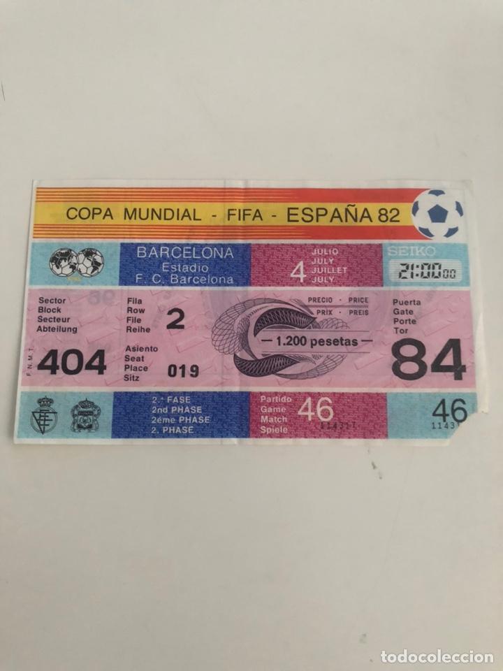 ENTRADA MUNDIAL ESPAÑA 82 RUSIA V POLONIA CAMP NOU BARCELONA URSS V POLSKA WORLD CUP TICKET (Coleccionismo Deportivo - Documentos de Deportes - Entradas de Fútbol)