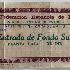 Coleccionismo deportivo: 1976 COPA DEL REY FINAL - ATLETICO MADRID V REAL ZARAGOZA - ENTRADA FINAL. Lote 206826265