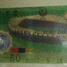 Coleccionismo deportivo: ENTRADA SIN CORTAR FINAL RECOPA 1995 ARSENAL - REAL ZARAGOZA. Lote 206839591