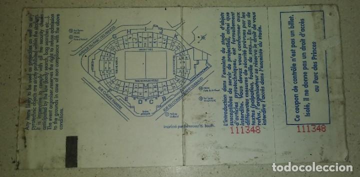 Coleccionismo deportivo: ENTRADA SIN CORTAR final RECOPA 1995 Arsenal - Real Zaragoza - Foto 6 - 206839591
