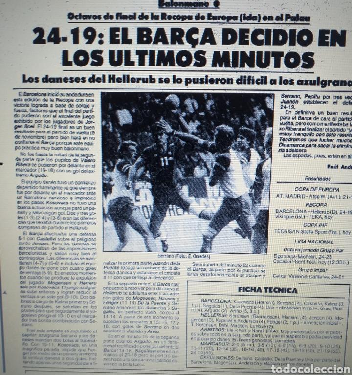 Coleccionismo deportivo: ENTRADA TICKET BALONMANO BARCELONA - HELLERUB DINAMARCA 85 86 - Foto 2 - 207434546