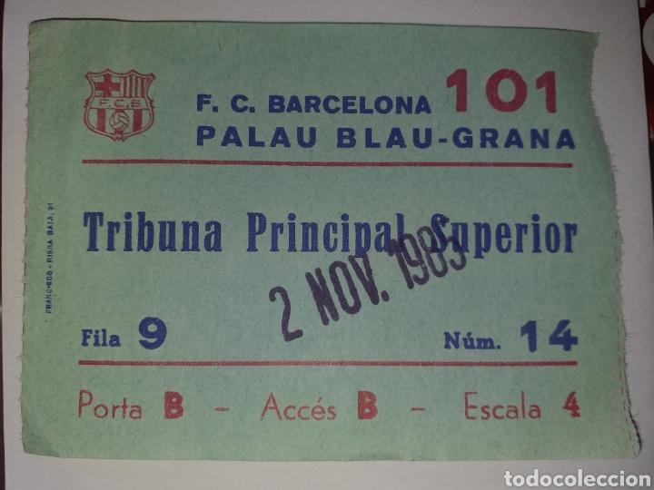 ENTRADA TICKET BALONMANO BARCELONA - HELLERUB DINAMARCA 85 86 (Coleccionismo Deportivo - Documentos de Deportes - Entradas de Fútbol)