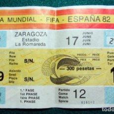 Coleccionismo deportivo: ENTRADA MUNDIAL ESPAÑA 1982 YUGOSLAVIA IRLANDA DEL NORTE NORTHERN IRELAND FIFA WOLD CUP TICKET. Lote 207454392