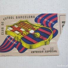 Coleccionismo deportivo: FC BARCELONA-ENTRADA ESPECIA DE FUTBOL ANTIGUA-BARÇA-VER FOTOS-(V-20.800). Lote 208877638
