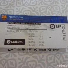 Coleccionismo deportivo: (LLL)-ENTRADA BARÇA CAMP NOU TEMPORADA 11-12- F.C.BARCELONA-LEVANTE UD. Lote 209139761
