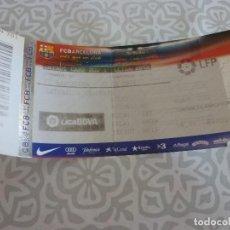 Coleccionismo deportivo: (LLL)-ENTRADA BARÇA CAMP NOU LIGA TEMP. 2009-10- F.C.BARCELONA-AT DE MADRID. Lote 209261573