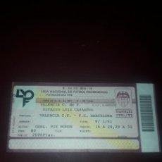 Coleccionismo deportivo: ENTRADA FUTBOL VALENCIA CF- FC BARCELONA 9/01/92 (8 DE FINAL COPA DEL REY). Lote 210940494