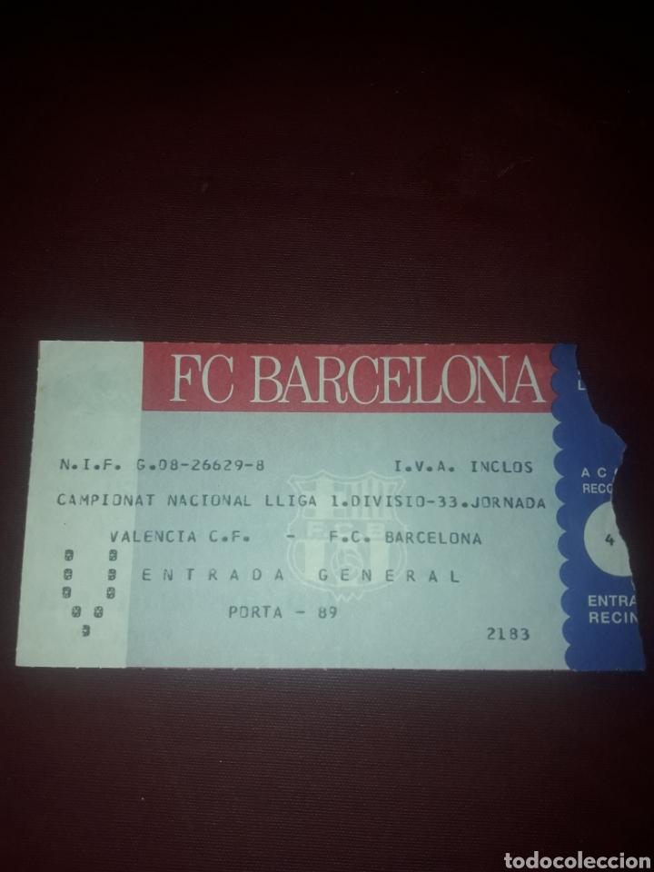 ENTRADA FUTBOL VALENCIA CF-FC BARCELONA LIGA (Coleccionismo Deportivo - Documentos de Deportes - Entradas de Fútbol)