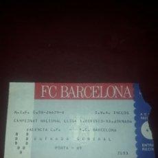 Coleccionismo deportivo: ENTRADA FUTBOL VALENCIA CF-FC BARCELONA LIGA. Lote 210941495