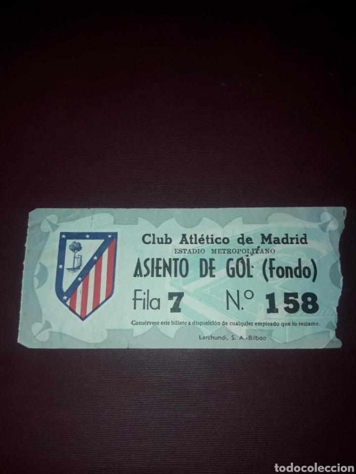 ENTRADA ESTADIO METROPOLITANO ATLETICO DE MADRID (Coleccionismo Deportivo - Documentos de Deportes - Entradas de Fútbol)