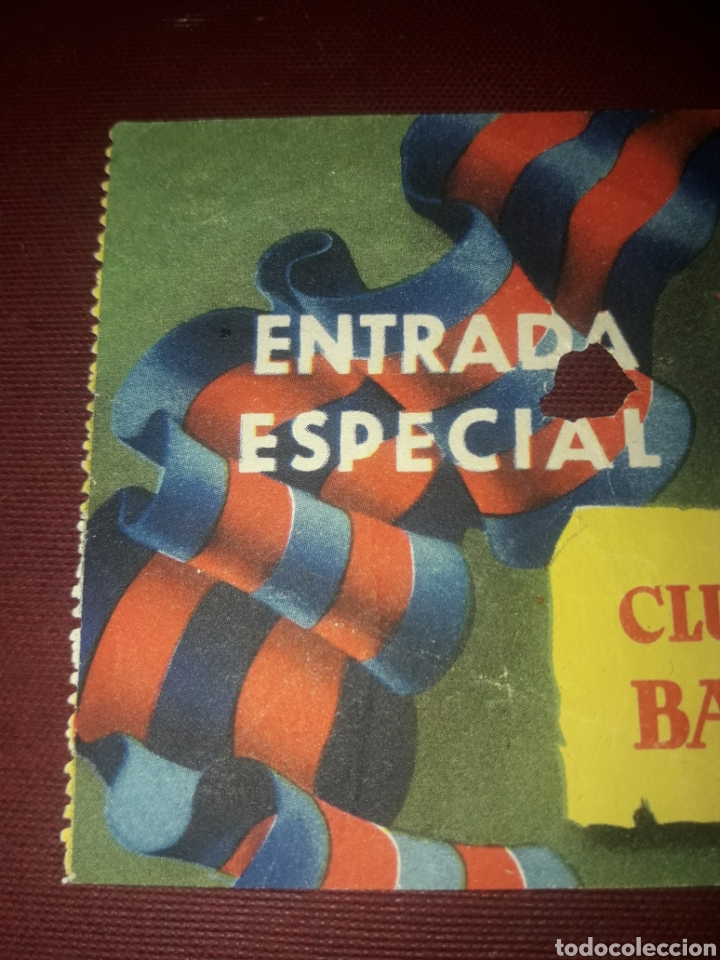 Coleccionismo deportivo: Entrada Especial Club de Fútbol Barcelona Año 54-55 - Foto 2 - 210950195