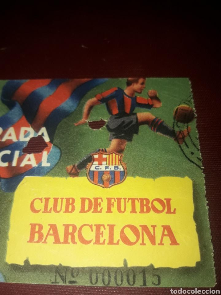 Coleccionismo deportivo: Entrada Especial Club de Fútbol Barcelona Año 54-55 - Foto 3 - 210950195