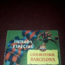 Coleccionismo deportivo: ENTRADA ESPECIAL CLUB DE FÚTBOL BARCELONA AÑO 54-55. Lote 210950195