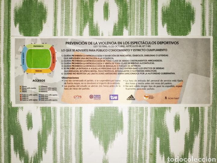 Coleccionismo deportivo: Entrada ticket final copa del rey 2003 + folleto informativo. Mallorca-Recreativo de Huelva - Foto 3 - 210969844