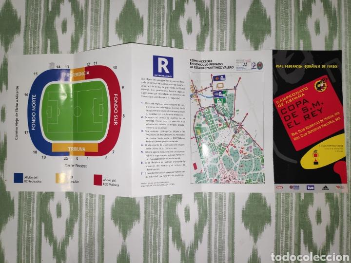 Coleccionismo deportivo: Entrada ticket final copa del rey 2003 + folleto informativo. Mallorca-Recreativo de Huelva - Foto 4 - 210969844