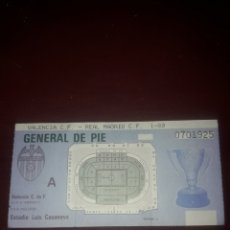 Coleccionismo deportivo: ENTRADA DEL LUIS CASANOVA,PARTIDO VALENCIA CF-REAL MADRID AÑO 1989. Lote 211408854