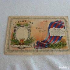 Coleccionismo deportivo: (LLL)ENTRADA ORIGINAL FC BARCELONA CAMPO DE LAS CORTS BODAS DE ORO 1899-1949. Lote 211866515