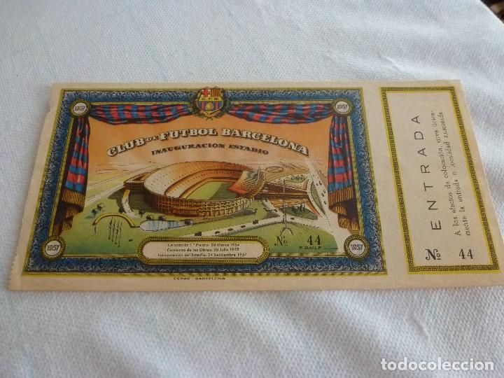 (LLL)ENTRADA FC BARCELONA INAUGURACIÓN CAMP NOU 24-9-1957-COMPLETA- (Coleccionismo Deportivo - Documentos de Deportes - Entradas de Fútbol)