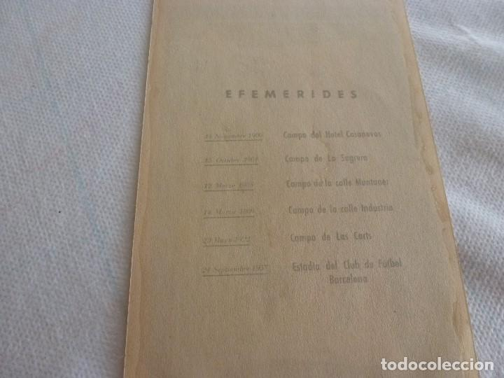 Coleccionismo deportivo: (LLL)ENTRADA FC BARCELONA INAUGURACIÓN CAMP NOU 24-9-1957-COMPLETA- - Foto 2 - 211867338