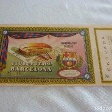 Coleccionismo deportivo: (LLL)ENTRADA FC BARCELONA INAUGURACIÓN CAMP NOU 24-9-1957-COMPLETA-. Lote 211867385