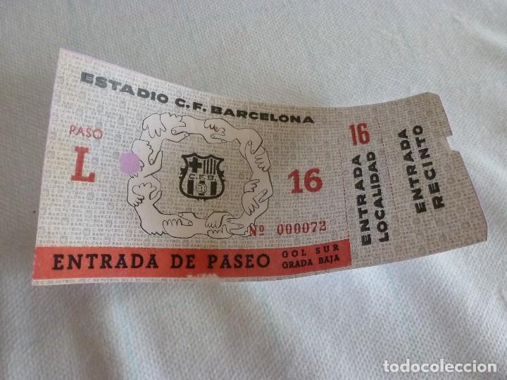 (LLL)ENTRADA FC BARCELONA INAUGURACIÓN CAMP NOU 24-9-1957-COMPLETA-BARÇA 4 SEL.VARSOVIA 2 (Coleccionismo Deportivo - Documentos de Deportes - Entradas de Fútbol)