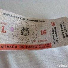 Coleccionismo deportivo: (LLL)ENTRADA FC BARCELONA INAUGURACIÓN CAMP NOU 24-9-1957-COMPLETA-BARÇA 4 SEL.VARSOVIA 2. Lote 211867658