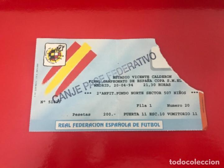 ENTRADA FÚTBOL FINAL COPA REY ESPAÑA REAL ZARAGOZA - CELTA 1994 (Coleccionismo Deportivo - Documentos de Deportes - Entradas de Fútbol)