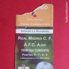 Coleccionismo deportivo: ENTRADA DE FUTBOL ESTADIO LA ROSALEDA MALAGA AÑO 1997 REAL MADRID - AJAX DE AMSTERDAM. Lote 211895478