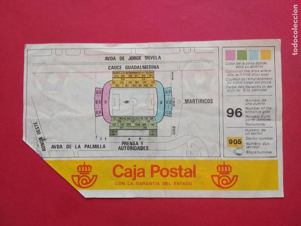 Coleccionismo deportivo: ENTRADA DE FUTBOL ESTADIO LA ROSALEDA MALAGA AÑO 1982 COPA MUNDIAL FIFA ESPAÑA 82 , 15 JUNIO - Foto 2 - 211896443