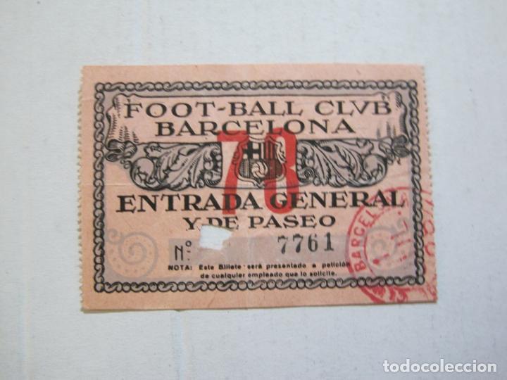 FC BARCELONA-ENTRADA GENERAL Y DE PASEO-HOMENATGE A TORRALBA-VER FOTOS-(V-21.285) (Coleccionismo Deportivo - Documentos de Deportes - Entradas de Fútbol)