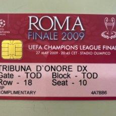 Coleccionismo deportivo: ENTRADA VIP 54ª EDICIÓN LIGA CAMPEONES UEFA. 27.05.2009. FC BARCELONA 2-0 MANCHESTER UNITED. ROMA. Lote 212610196