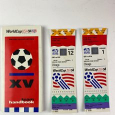 Coleccionismo deportivo: PR-2278. MUNDIAL FUTBOL: ESPAÑA-ALEMANIA.WORLD CUP USA 94 XV TEAM HANDBOOK. CON 2 ENTRADAS. Lote 212990268