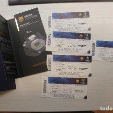 Coleccionismo deportivo: 5 ENTRADAS VIP F.C. BARCELONA-S.S.C. NAPOLI, 2019-2020. Lote 213614647