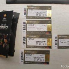 Coleccionismo deportivo: 5 ENTRADAS VIP F.C. BARCELONA-C.D. LEGANÉS, 2019-2020. Lote 213615096