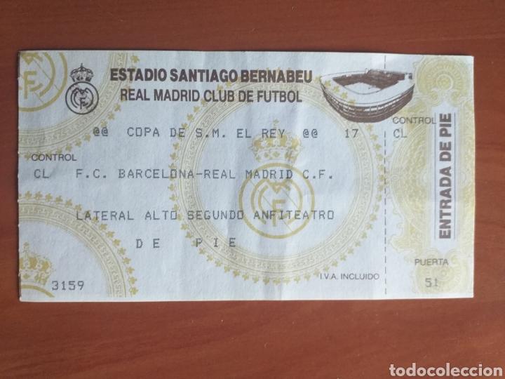 ENTRADA TICKET REAL MADRID BARCELONA 92 93 COPA (Coleccionismo Deportivo - Documentos de Deportes - Entradas de Fútbol)