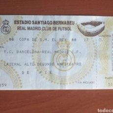 Coleccionismo deportivo: ENTRADA TICKET REAL MADRID BARCELONA 92 93 COPA. Lote 214185182