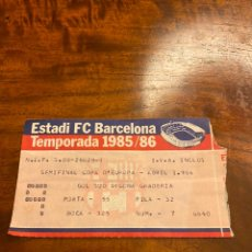 Coleccionismo deportivo: ENTRADA TICKET FC BARCELONA-GOTEBORG COPA DE EUROPA PICHI ALONSO HAT TRICK. Lote 214591136