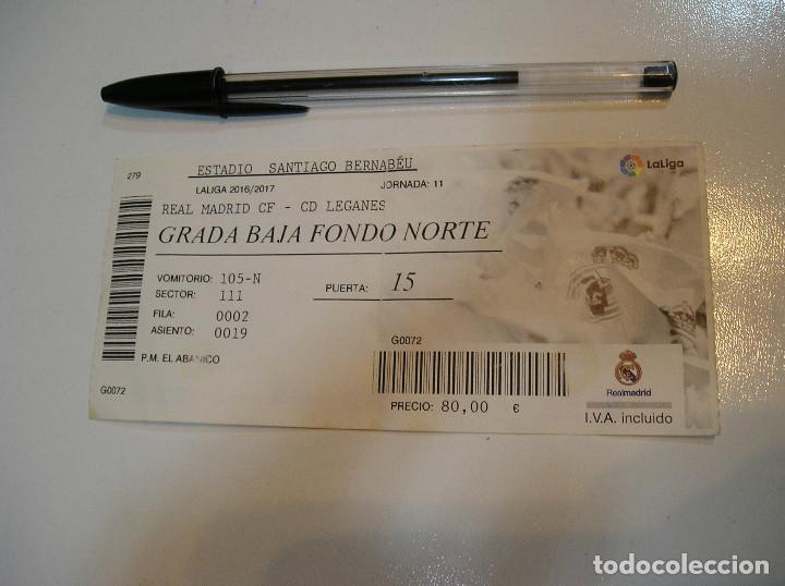 Coleccionismo deportivo: ENTRADA FUTBOL TEMPORTADA 2016 - 2017 REAL MADRID LEGANES - Foto 2 - 214836498