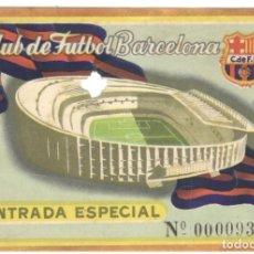 Coleccionismo deportivo: ENTRADA ESPECIAL Nº 93 - C. DE F. BARCELONA - EN BUEN ESTADO.. Lote 215848248
