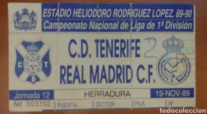 ENTRADA FUTBOL TENERIFE REAL MADRID 89 90 (Coleccionismo Deportivo - Documentos de Deportes - Entradas de Fútbol)