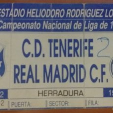 Coleccionismo deportivo: ENTRADA FUTBOL TENERIFE REAL MADRID 89 90. Lote 217006386