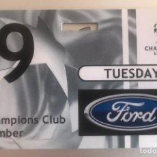 Coleccionismo deportivo: J6 FORD PASE ESPECIAL UEFA CHAMPIONS 19 2 2002 CAMPEÓN REAL MADRID 1 PORTO 0. Lote 217636111
