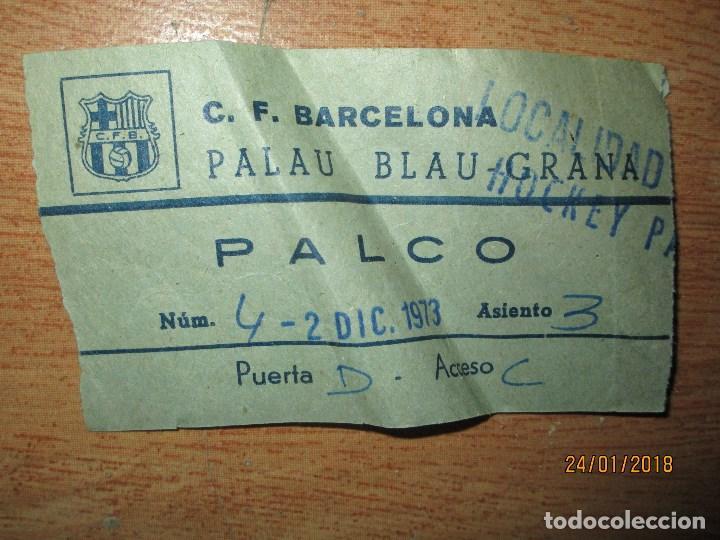 PALCO ENTRADA ANTIGUA AÑOS 40 C.F.BARCELONA PALAU BLAU GRANA HOCKEY (Coleccionismo Deportivo - Documentos de Deportes - Entradas de Fútbol)