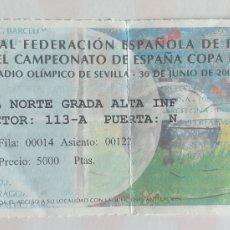 Coleccionismo deportivo: ENTRADA FUTBOL ZARAGOZA CELTA DE VIGO FINAL COPA 00 01. Lote 218209827