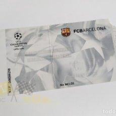 Coleccionismo deportivo: ENTRADA FCBARCELONA - R. MADRID - CHAMPIONS LEAGUE - 2002. Lote 218727055